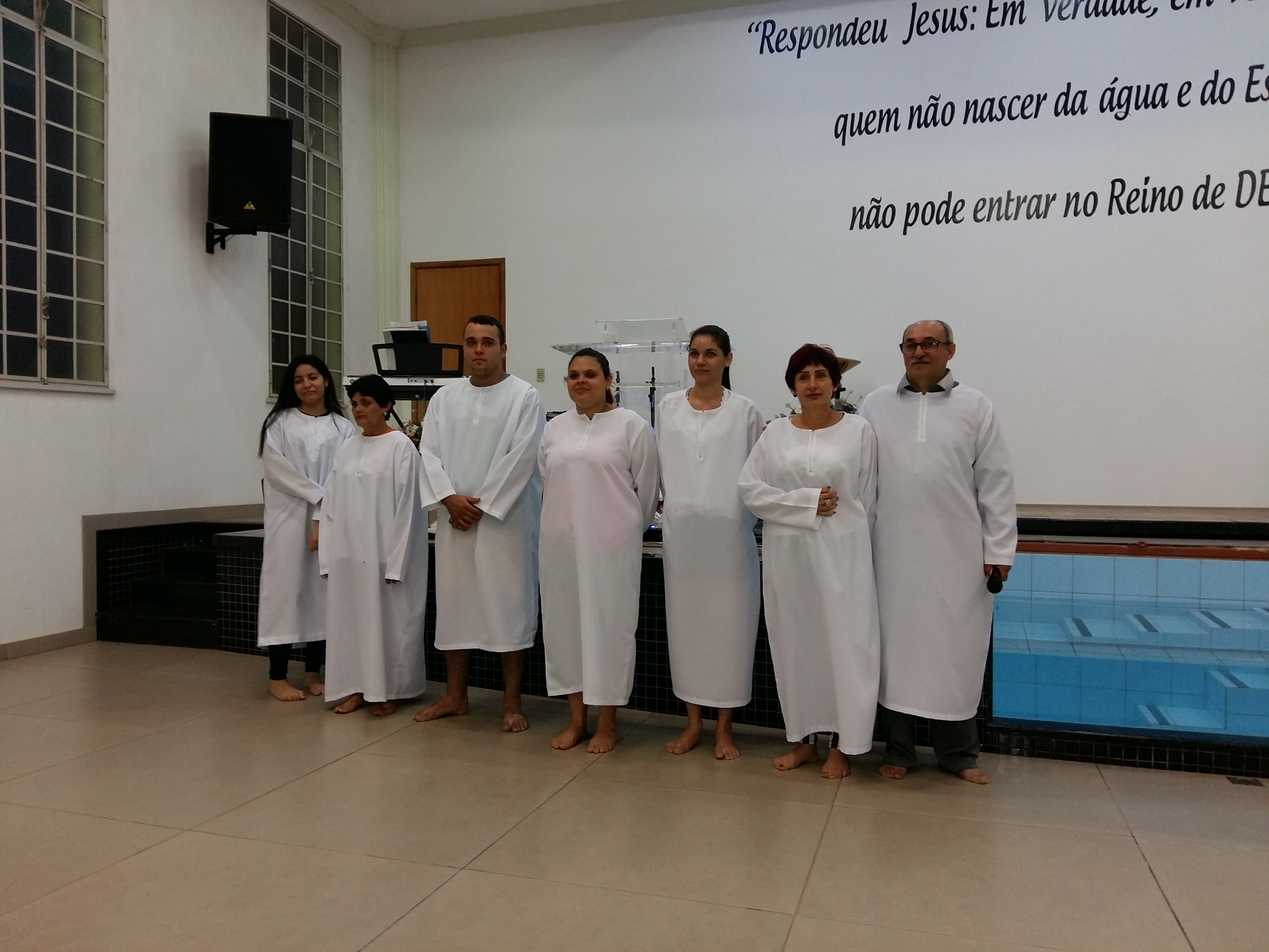 Batismos no PREVIG de Cruzeiro Doeste